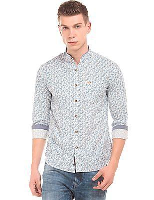 U.S. Polo Assn. Denim Co. Mandarin Collar Floral Print Shirt