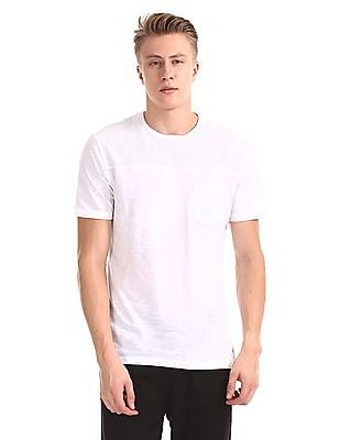 Cherokee White Patch Pocket Solid T-Shirt
