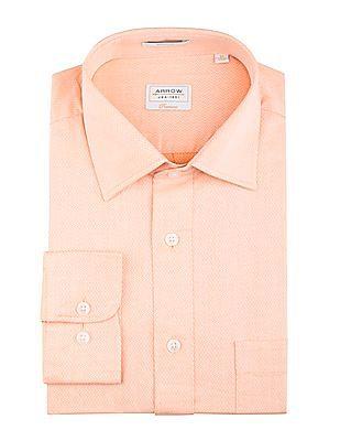 Arrow Regular Fit Jacquard Shirt
