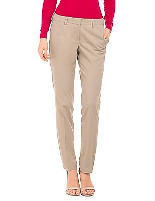 Arrow Woman Solid Tapered Fit Trousers