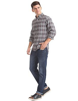 Gant Original Winter Twill Melange Plaid Button Down Shirt