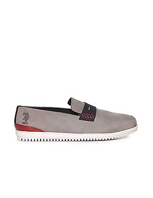 U.S. Polo Assn. Colour Blocked Leather Penny Loafers