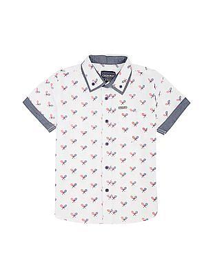 Cherokee Boys Racket Print Cotton Shirt