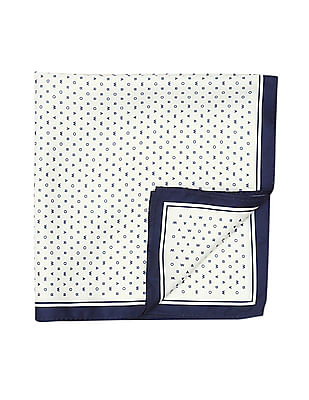 Arrow Brand Print Woven Pocket Square