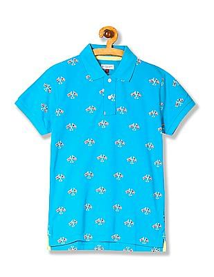 U.S. Polo Assn. Kids Boys Printed Cotton Polo Shirt