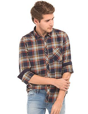 Flying Machine Plaid Flannel Shirt