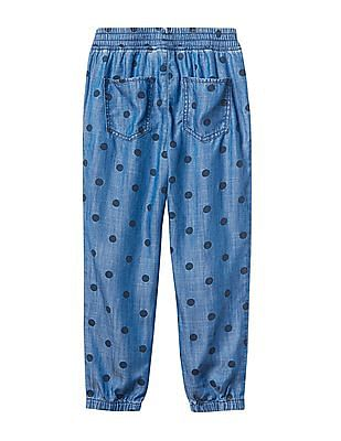 GAP Girls Tencel Polka Dot Pants