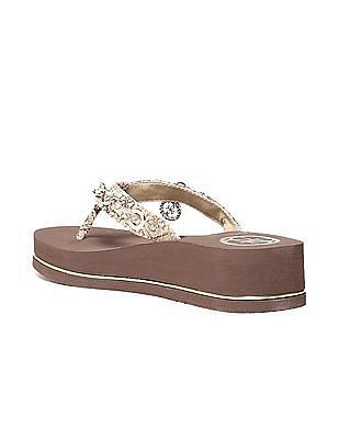 GUESS Braided Strap Platform Sandals