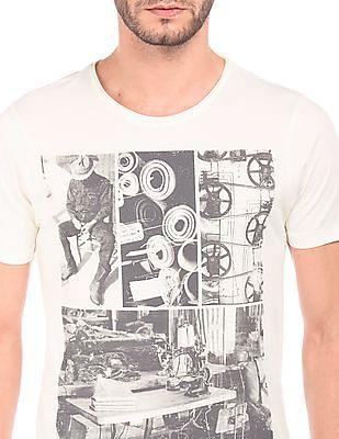 Flying Machine Graphic Print Regular Fit T-Shirt