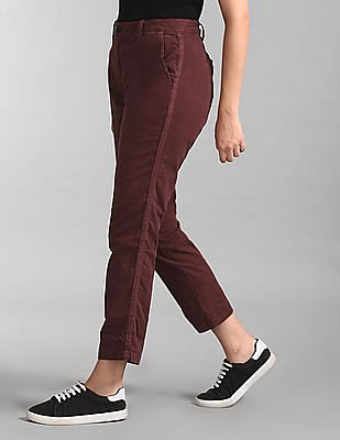 GAP Red Girlfriend Twill Stripe Chinos In Color