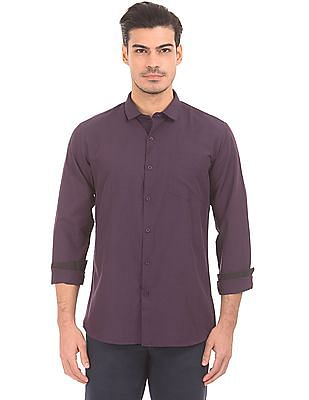 Excalibur Solid French Placket Shirt
