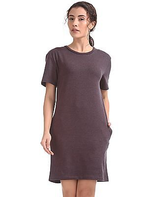 8432e0fbfc6 Buy Women Solid T-Shirt Dress online at NNNOW.com