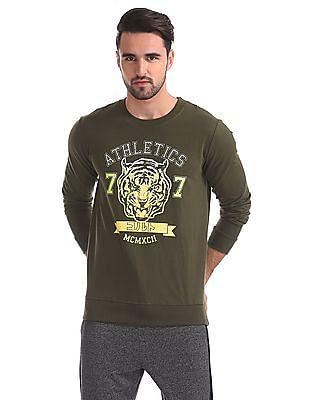 Colt Printed Front Round Neck Sweatshirt