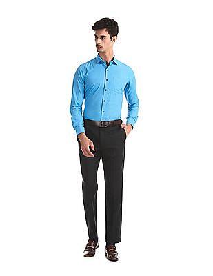 Excalibur Blue Slim Fit Check Shirt