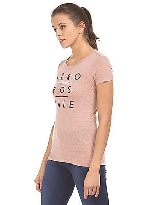 Aeropostale Embroidered Front Heathered T-Shirt