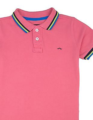 FM Boys Boys Solid Slim Fit Polo Shirt