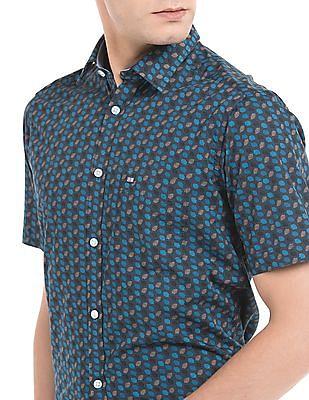 Arrow Sports Abstract Print Slim Fit Shirt