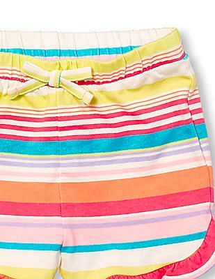 The Children's Place Toddler Girl Matchables Printed Knit Ruffle Shorts
