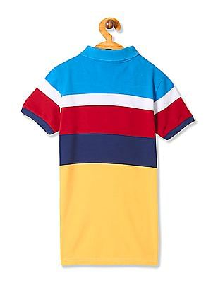 U.S. Polo Assn. Kids Boys Standard Fit Striped Polo Shirt