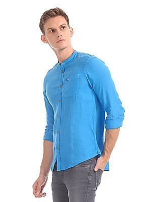 Arrow Sports Hudson Slim Fit Linen Shirt