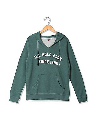 U.S. Polo Assn. Women Appliqued Hooded Sweatshirt