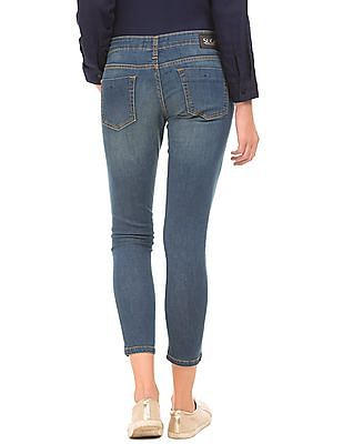SUGR Slim Fit Stone Washed Jeans