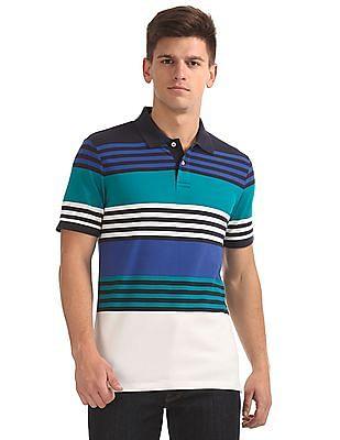 Gant Multi Stripe Pique Short Sleeve Rugger Polo