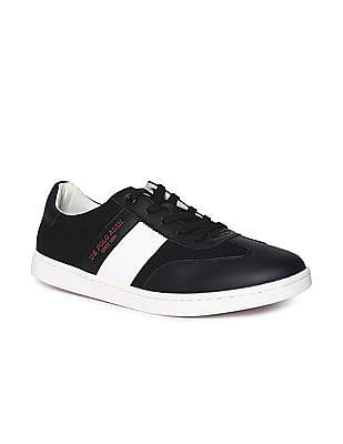 U.S. Polo Assn. Black Knit Upper Low Top Sneakers