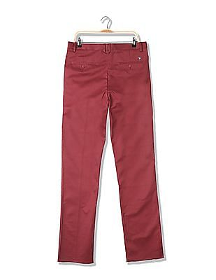 U.S. Polo Assn. Tapered Fit Solid Trousers