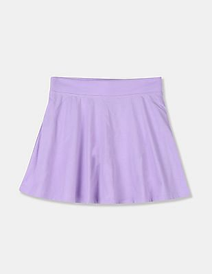 The Children's Place Girls Purple Solid Flared Skort