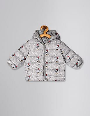 GAP Grey Baby Girl Disney Minnie Mouse ColdControl Puffer Jacket