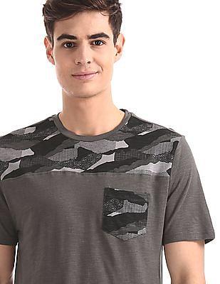 Cherokee Grey Patch Pocket Slub T-Shirt