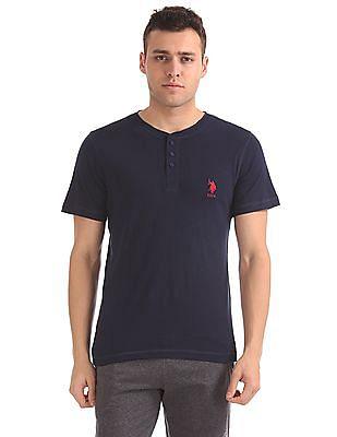 USPA Innerwear Slubbed Henley T-Shirt