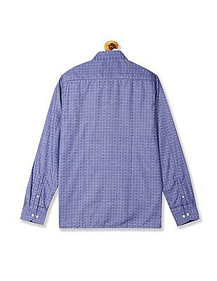 Excalibur Semi Cutaway Collar Patterned Shirt