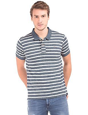 Flying Machine Regular Fit Striped Polo Shirt