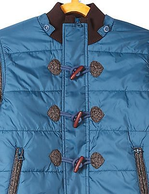 U.S. Polo Assn. Kids Boys Hooded Colour Blocked Jacket