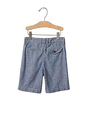 GAP Baby 1969 Chambray Flat Front Shorts