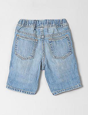 GAP Baby Distressed Roll-Up Denim Shorts
