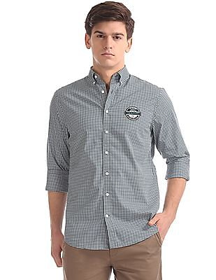 Gant Le Mans Techprep Broadcloth Gingham  Button Down Shirt