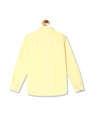 U.S. Polo Assn. Kids Yellow Boys Button Down Collar Oxford Shirt