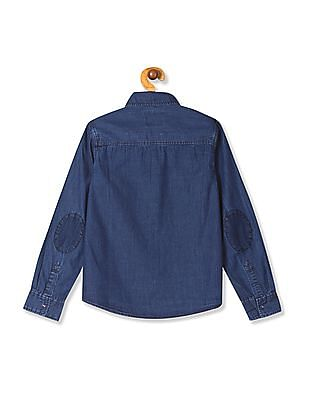 Cherokee Boys Washed Denim Shirt