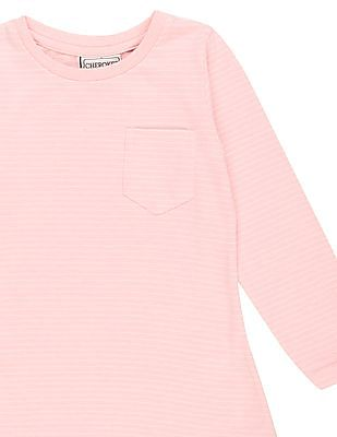 Cherokee Girls Striped Long Sleeve Top