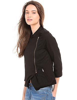 SUGR Asymmetric Zip Up Jacket
