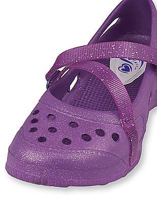 The Children's Place Girls Purple Sparkle Breezer Water Shoes