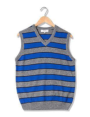 Arrow Sports V-Neck Wool Sweater