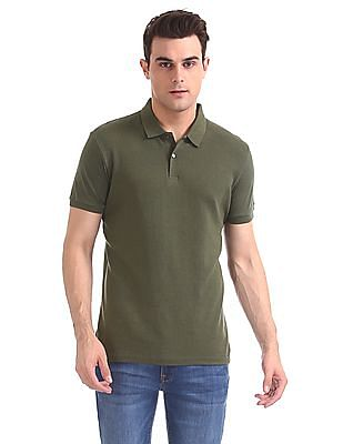 Arrow Newyork Regular Fit Ribbed Front Polo Shirt