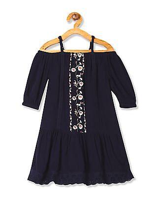Cherokee Girls Embroidered Drop Waist Dress