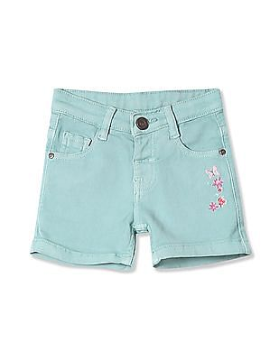 Donuts Girls Embroidered Woven Shorts
