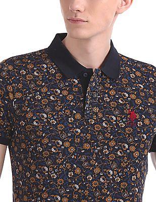 U.S. Polo Assn. Floral Print Short Sleeve Polo Shirt