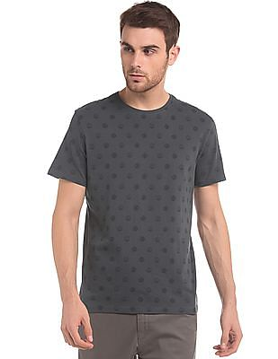 True Blue Coin Print Crew Neck T-Shirt